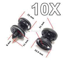 10X Interior Door Trim Panel Fastener Clips with Sealer for VW, Audi, Seat