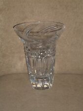 BEAUTIFUL VINTAGE CUT CRYSTAL GLASS WIDE MOUTH VASE