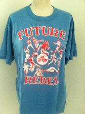 LOT 2 BLUE REBEL SPORTS NEW TSHIRTS SIZE L ATHLETIC TOP RED HEART CARE FOR KIDS
