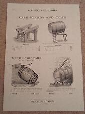 CASK STANDS AND TILTS Vintage Images Copy Print Lumley+Co Minories London #272