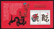 2012 Christmas Island Year of The Dragon - MUH Mini Sheet