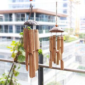 Coconut Wood Handmade Bamboo Wind Chimes Big Bell Tube Wind Chime Home Decor
