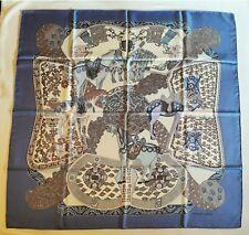 Foulard Hermès carré  ART DES STEPPES  -  Annie Faivre  scarf