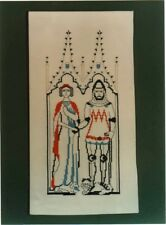 CHART MADE FROM A BRASS RUBBING - KNIGHT IN ARMOUR  & LADY