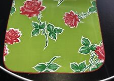 Havana Green Roses Mexican OILCLOTH Dining Table RUNNER Picnic RV BBQ Dining