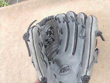 "New listing Wilson A360 Baseball Softball Glove Black/Grey 12"" Right Hand Thrower NICE!"