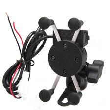 X-Grip Motorrad Fahrradhalter Handy-Halter Halterung USB-Ladegerät für Handy