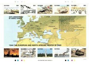 Guyana - 1994 - World War II - Sheet Of 10 - MNH