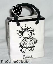 ENESCO PERSONALLIZED CERAMIC BAG & LAPEL PIN - CAROL - LOVE IS WHY WE ARE HERE