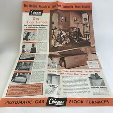 Vintage Coleman Lamp & Stove Co Automatic Gas Floor Furnaces Heater Brochure