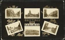 Godalming. Greetings Multiview # 4333 by WHA. Bridge St.,Charterhouse, High St.