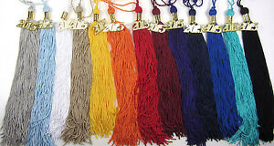 """Graduation Tassel 9"""" Solid colors for Cap & Gown Souvenir High School College"""