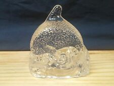 PartyLite Glass Dolphin Tea Light Candle Holder Retired Paperweight