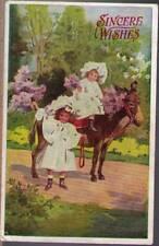 (yrv) Greeting Postcard: Children, Sincere Wishes