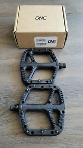 OneUp Components Composite MTB Cycling Pedals Flat Cr-Mo Axles (Black)
