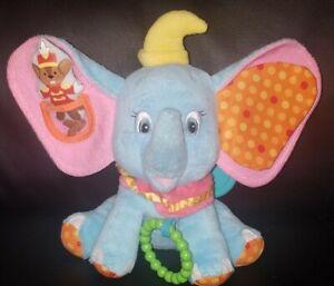 Kids Preferred Disney Baby Dumbo Take Along Stroller Hang Crinkle Activity Plush