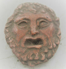 Rare Ancient Greek Terracotta Head Fragment Circa 200 Bc