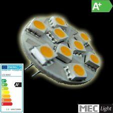 G4 LED zócalo pin 9x SMD-LEDs -140lm-Blanco Cálido (espalda-pin)