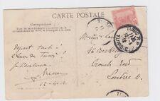 1912 TUNISIA - TUNIS to Crouch End Postcard Carthage Damous El Karita