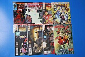 Marvel Comics INVINCIBLE IRON MAN #593-600 complete BENDIS, IRONHEART