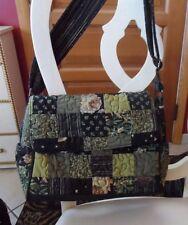 Donna Sharp black and green patchwork shoulder bag