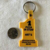 Art's Pizza Pepperoni Express Stow Ohio #1 Keychain Key Ring #36267