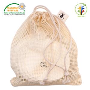 Cotton Laundry & Storage Bag - 100% organic cotton, mesh bag, mesh laundry bag