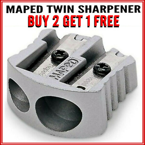 Maped Twin Hole Metal Quality Pencil Sharpener SUPER DEAL BUY 2 GET 1 EXTRA FREE