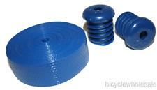 Plastic Handlebar Tape & Plugs / Handlebar Wrap Blue NEW!