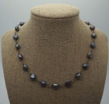 SILPADA Iridescent 925 Sterling Silver Floating Beaded Purple Pearl Necklace