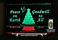 Christmas Tree Lighted Sign- Personalized Custom LED Sign, Happy Holiday's