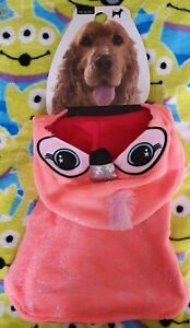 Primark Dog Costume Outfit - Pink Furry & Glittery Flamingo Medium Size