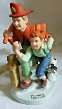"Norman Rockwell Figurine by Danbury Mint ""The Alarm"" Excellent Condition"