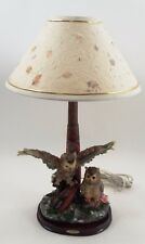 Mint 2002 Ruby's Collection Owls & Alaskan Inuit Totem Pole Figural Table Lamp