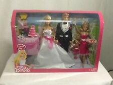 2009 Barbie I Can Be Bride and Groom Wedding Party Playset NIB Target Exclusive