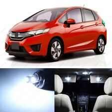 8 x White LED Lights Interior Package Deal For Honda Fit 2015 - 2019 + PRY TOOL