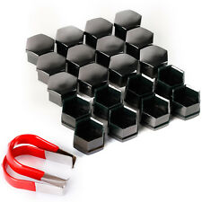 19mm Smoke Chrome ALLOY WHEEL NUT BOLT COVERS CAPS UNIVERSAL SET FOR ANY CAR