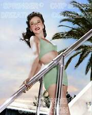 IDA LUPINO in Green Bathing Suit | Sexy Cheesecake 8x10 COLOR by CHIP SPRINGER