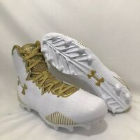 Under Armour Highlight Women Lacrosse Cleats LAX Gold White 1297347-100 Sz 8.5