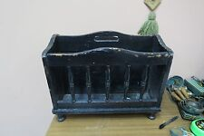 "Antique Vintage Wood Magazine Newspaper Holder Rack 13"" x 18"" x 12"" H"