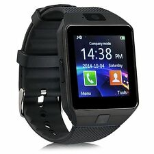 Black DZ09 Bluetooth Smart Watch Phone Mate Sport GSM SIM For iPhone Samsung New