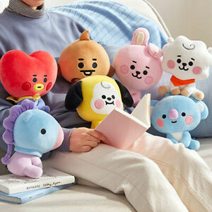 Cartoon Animal Bangtan Plush Toy Cute Soft Stuffed Neck Pillow Sitting Toy