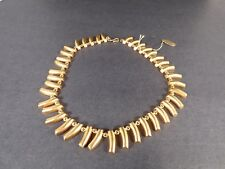 Plated Statement Necklace, Nwt Vintage Robert Lee Morris Gold