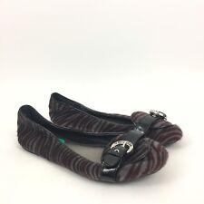 G by Guess Purple Calf Hair Zebra Print Patent Trim Flat Shoes Size 8