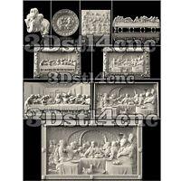 9 3D STL Models Religion Panel Set for CNC Router Carving Machine Artcam aspire