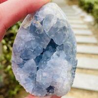 370g Rare Top Grade Gorgeous Sky Blue Celestite Rough Reiki Crystal