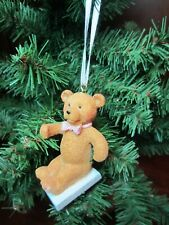 Mary Engelbreit Me Ink Bear with pink bow ornament