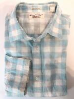 Penguin By Munsingwear Mens 2XL Light Blue Long Sleeve Button Up Shirt