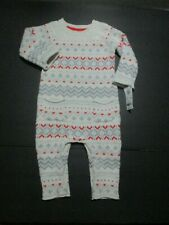 NEW NWT INFANT GIRLS OSHKOSH BGOSH IVORY RED WOOL SWEATER...
