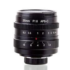 FUJI 35mm f/1.6 C mount CCTV Lens f APS-C sensor camera M4/3 NEX FX EOSM N1 P/Q